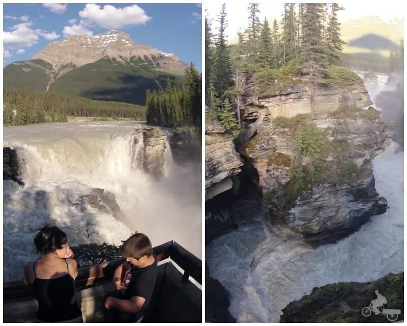 cascadas athabasca - qué visitar en las Montañas Rocosas del Canadá