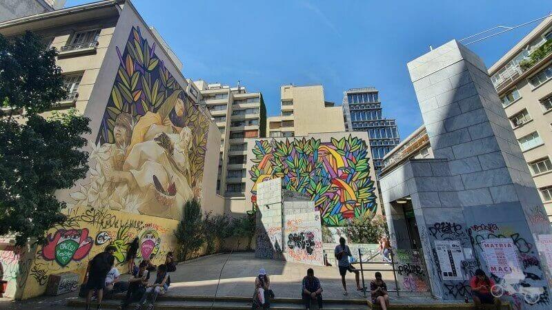 grafittis - Mejores free tours en Santiago de Chile