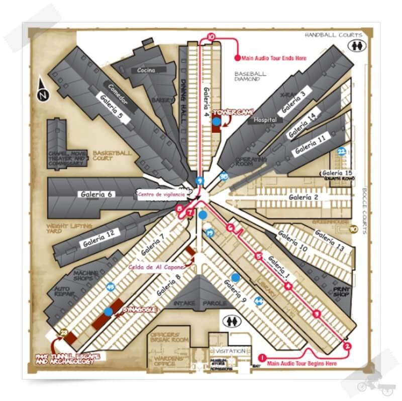 mapa visita eastern state penitentiary