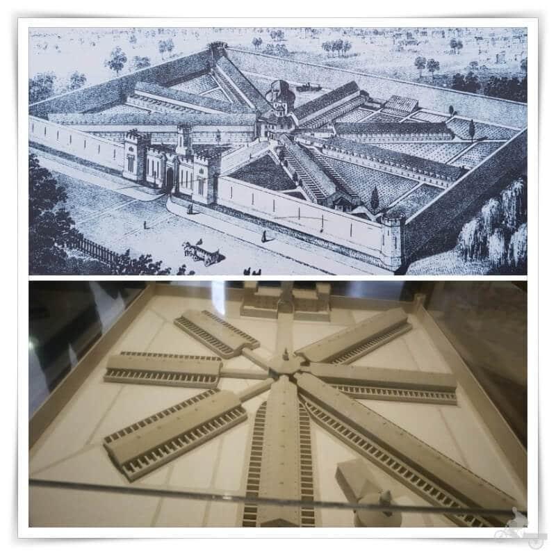 maquetas de la prisión de Filadelfia