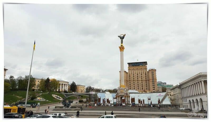 plaza de la Independencia - qué visitar en kiev