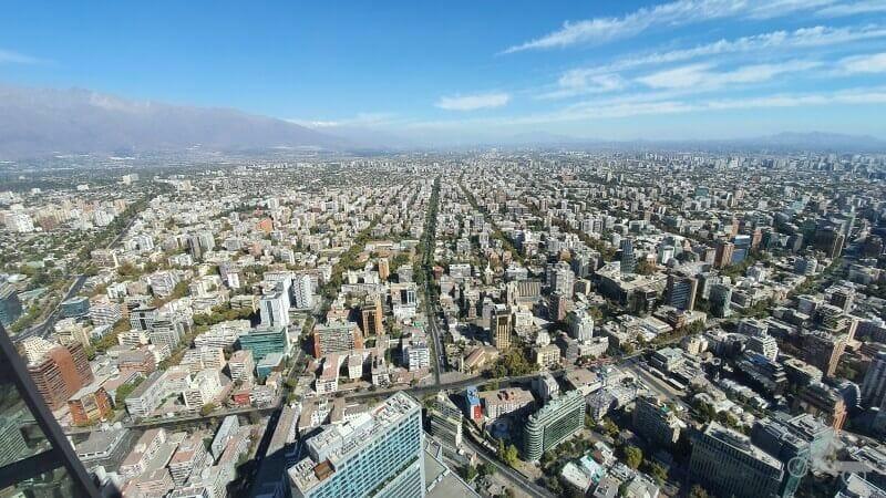 vistas de Santiago desde Sky Costanera