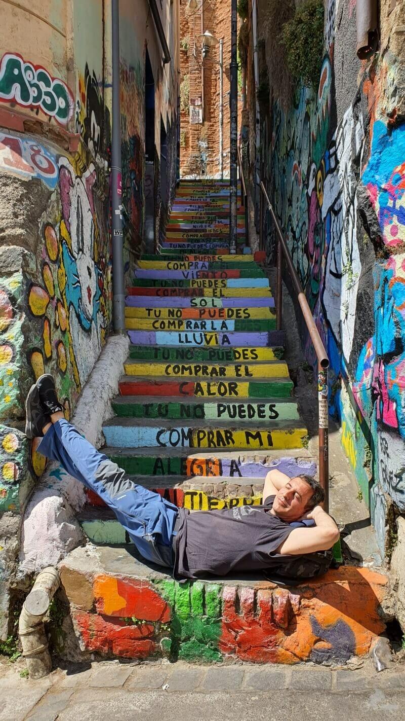 Escaleras Pasaje Bavestrello de Valparaíso