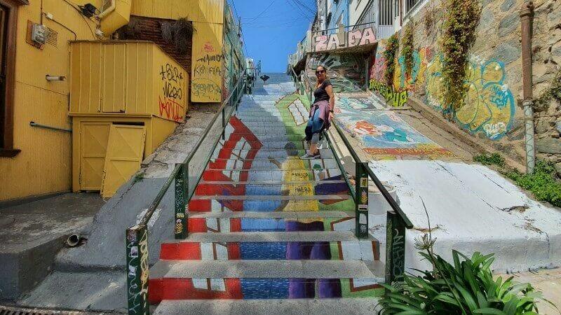 Escaleras de la calle Papudo
