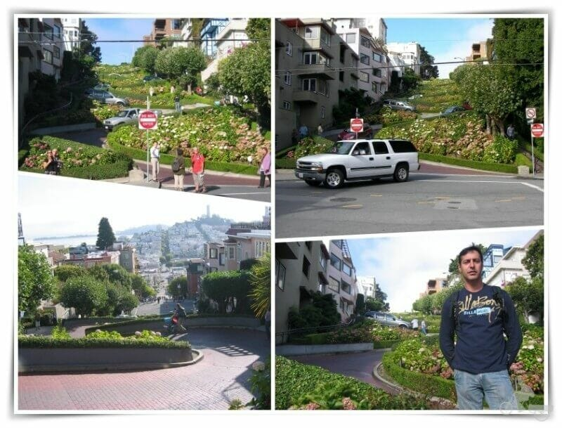 Lombard street - qué visitar en San Francisco