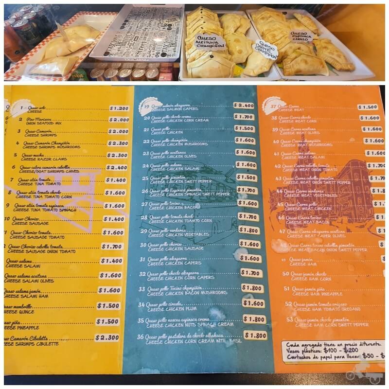 empanadas donde comer en Valparaíso