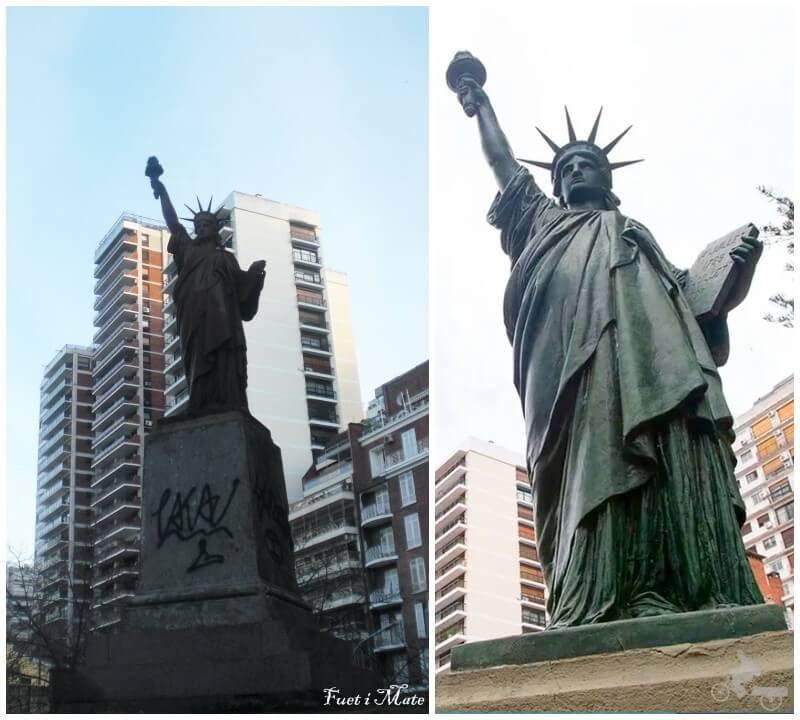 estatua de la libertad en Buenos Aires en barrio de belgrano