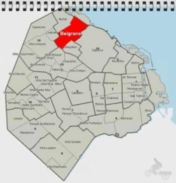 mapa del barrio belgrano