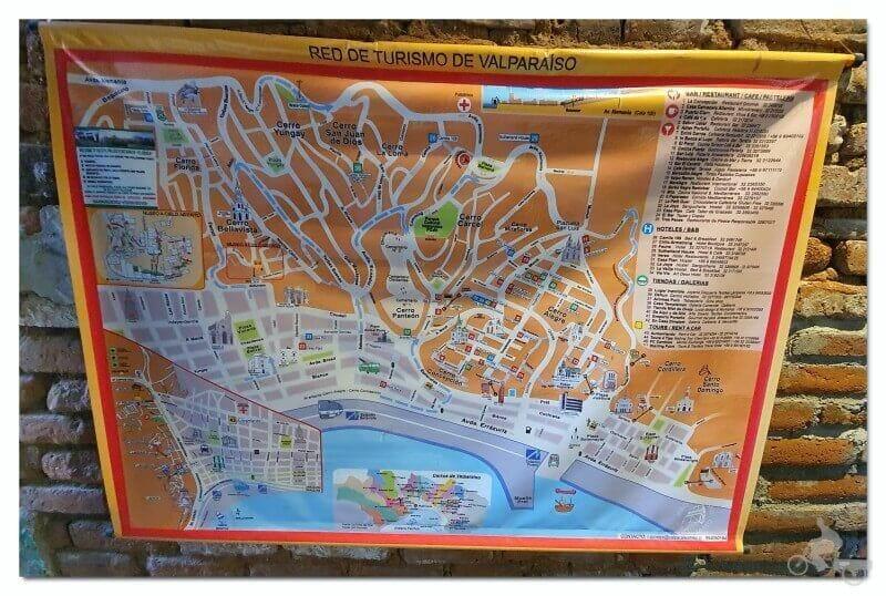 mapa plano - qué ver en Valparaíso en un día