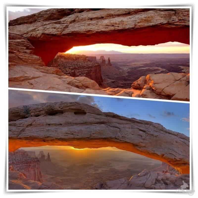 Mesa arch al amanecer - canyonlands