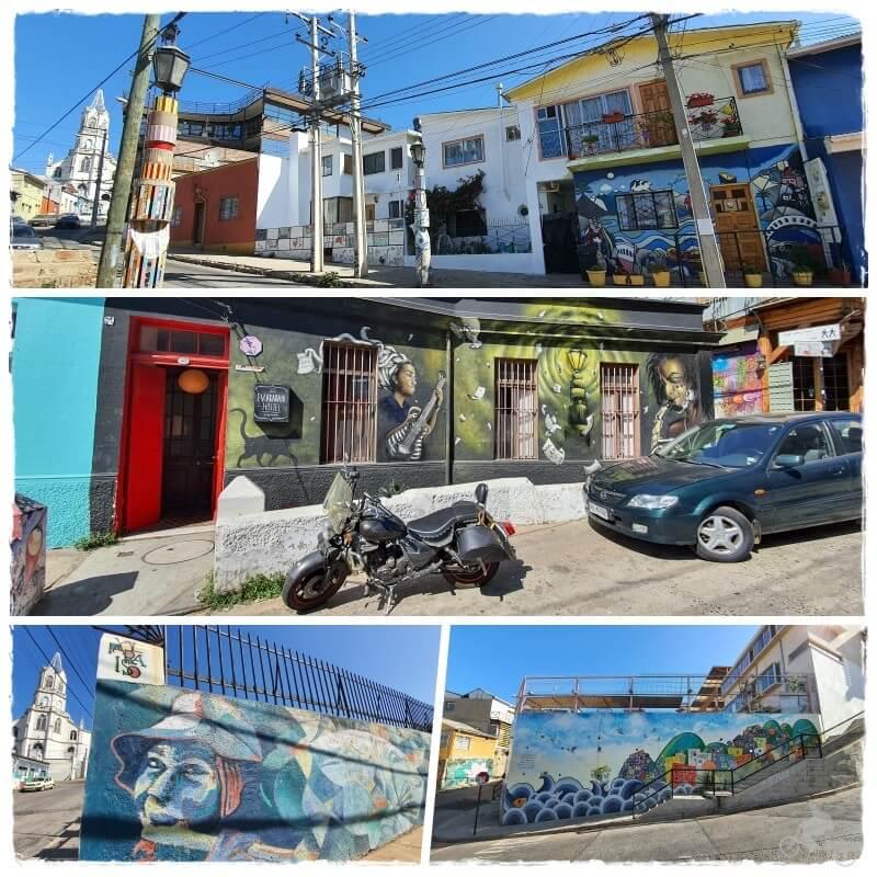 murales del Museo del Cielo abierto en el Cerro Bellavista