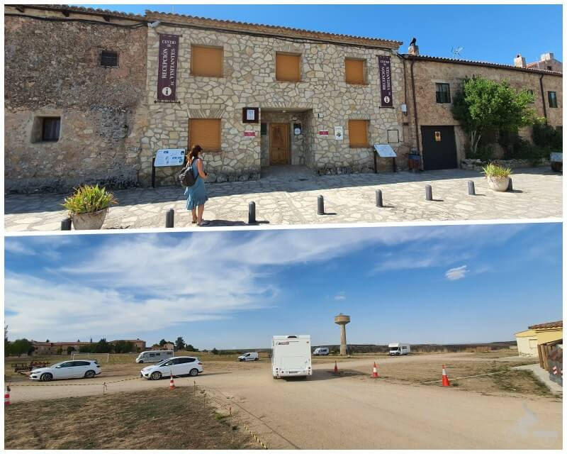 oficina de turismo y aparcamiento en Medinaceli