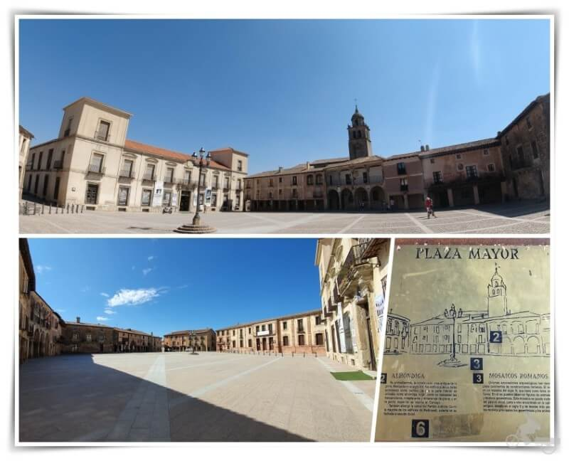 Plaza Mayor de Medinaceli y palacio ducal