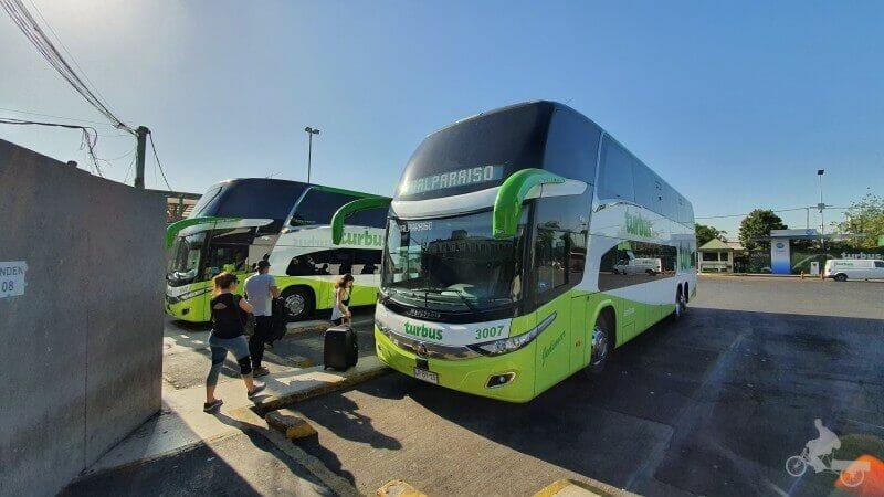 compañía Turbu buses de Santiago de Chile