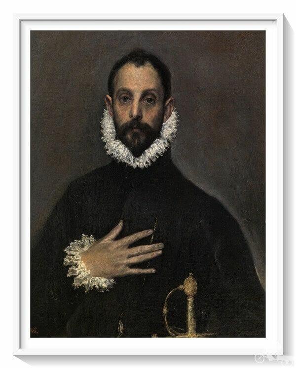 caballero de la mano en el pecho del Greco - qué ver en el museo del Prado