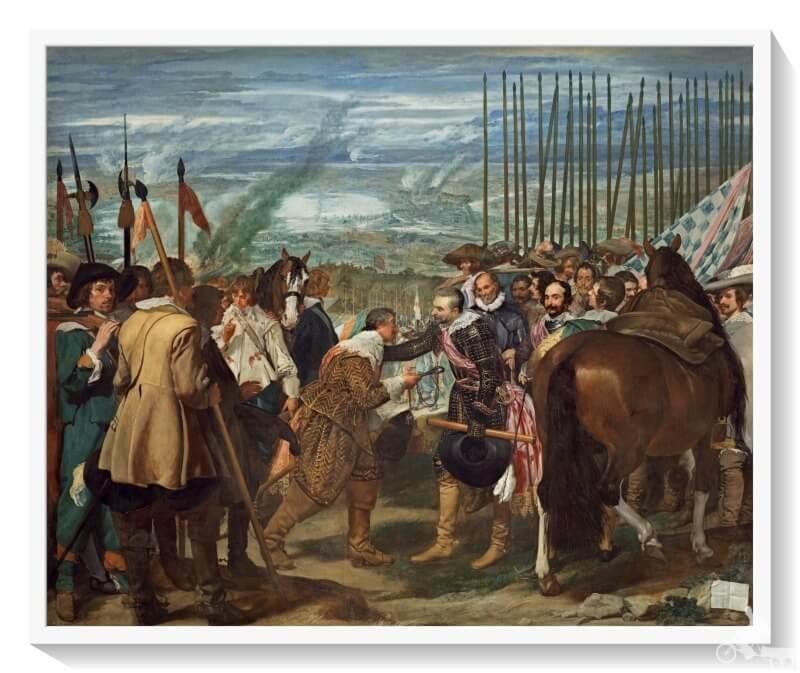 Rendición de Breda o las Lanzas - mejores obras del museo del Prado