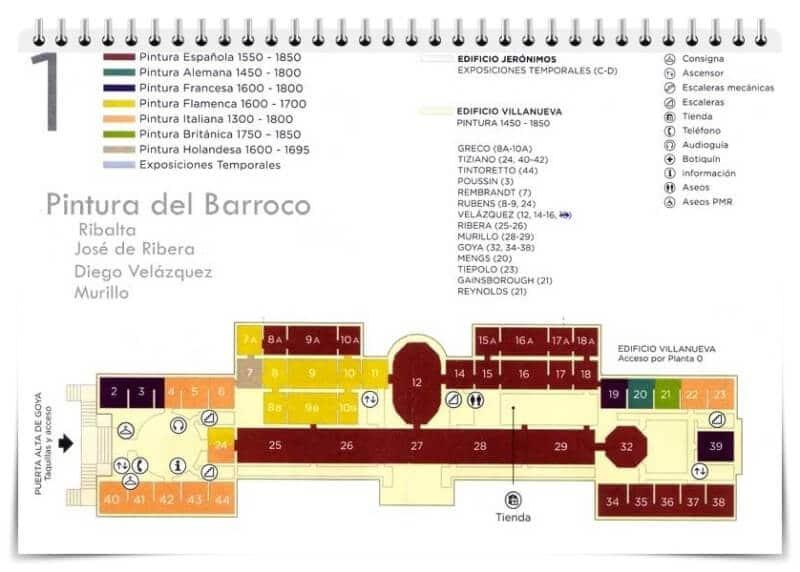 plano del museo del Prado