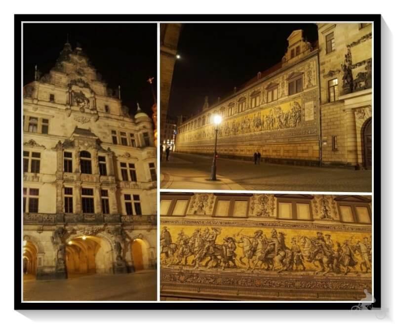 Fürstenzugb de noche - Dresde en un día