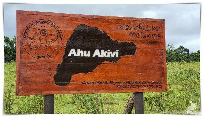Ahu Akivi en isla de Pascua