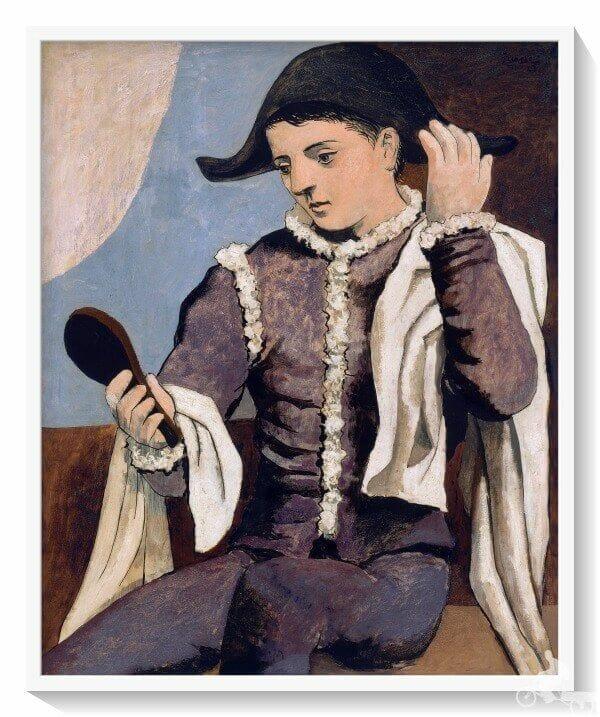 arlequin espejo Picasso - museo Thyssen Bornemisza