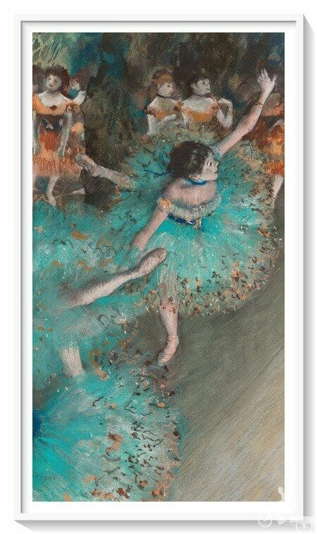 bailarina basculando bailarina verde