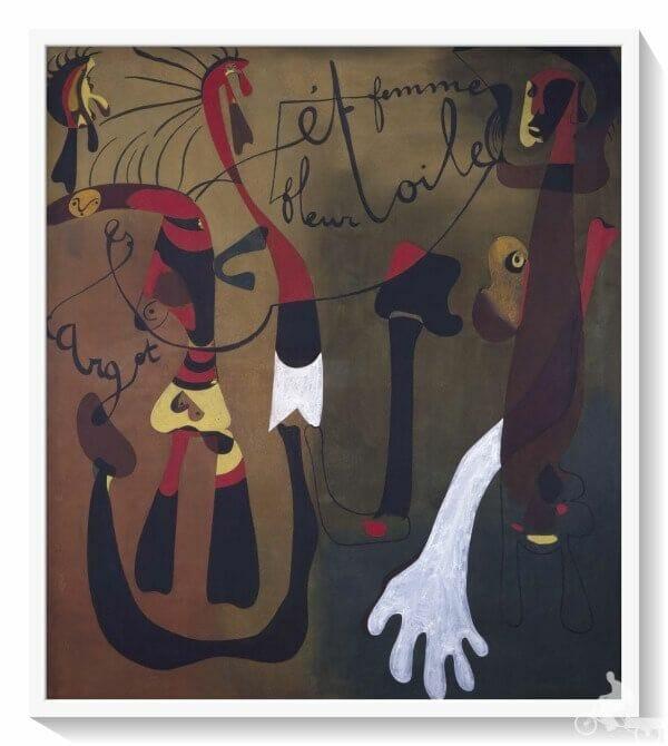 caracol flor mujer y estrella de Joan Miró