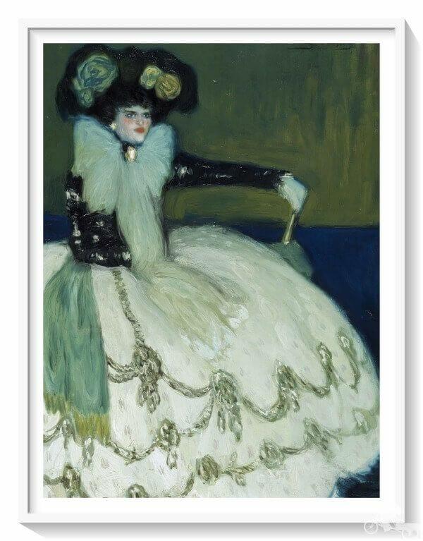 dama de azul de Picasso