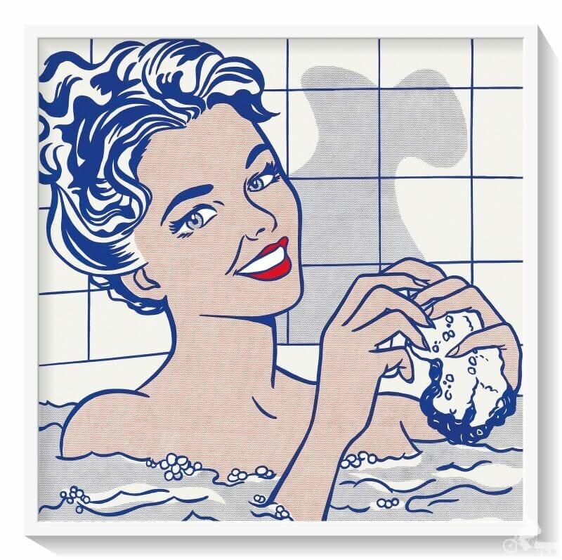 mujer en el baño de Roy Lichtenstein - museo Thyssen Bornemisza