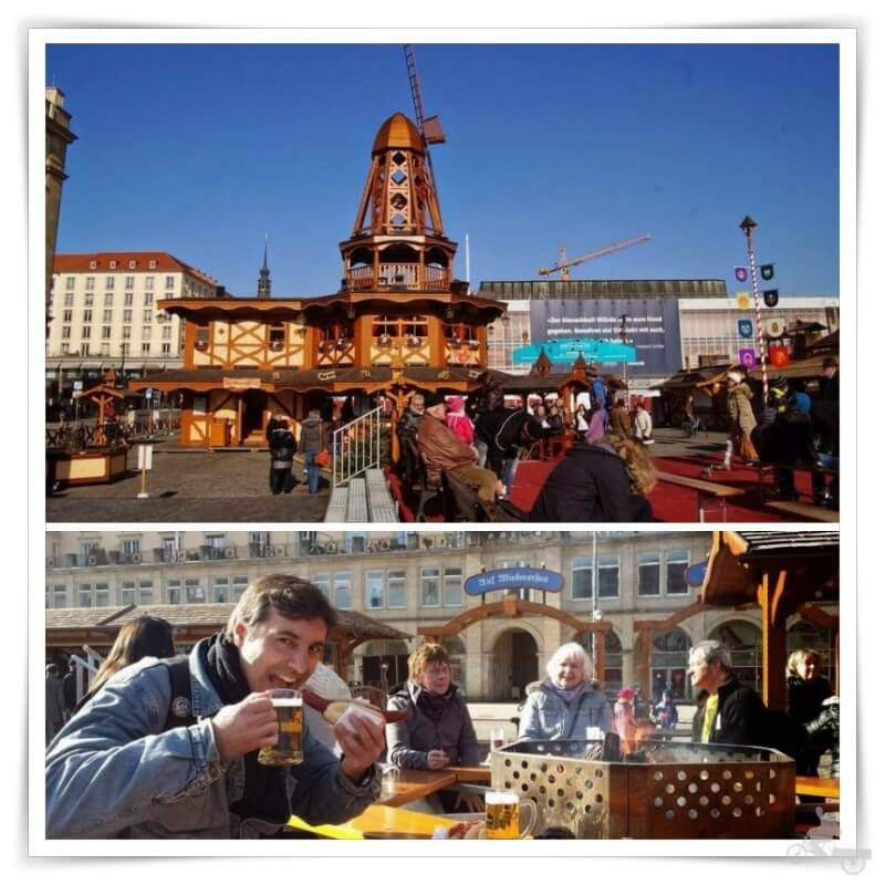 plaza Altmarkt en Navidad