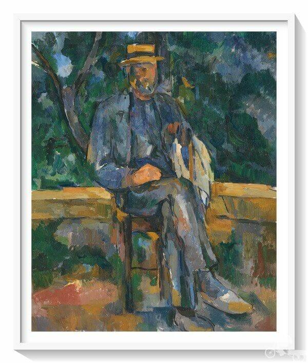 hombre sentado de Paul Cézanne