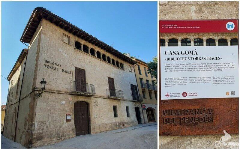 casa Gomà -que visitar en Vilafranca del Penedès