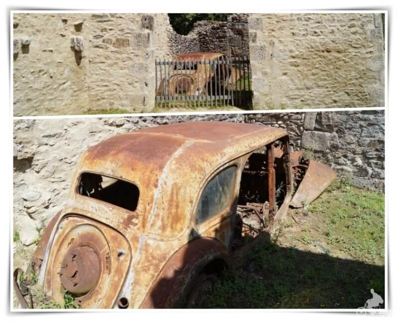 coches abandonados de oradour sur glane