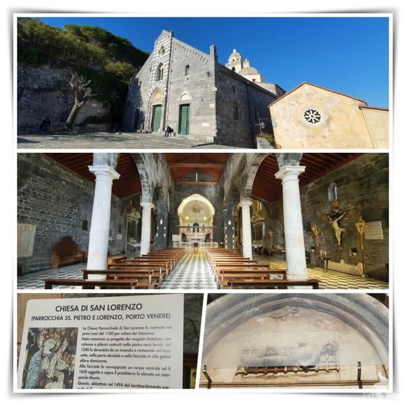 iglesia san lorenzo - que ver en Portovenere