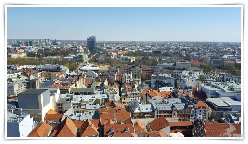 iglesia de San Pedro de Riga vistas desde la torre