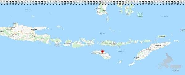 mapa de la isla de sumba