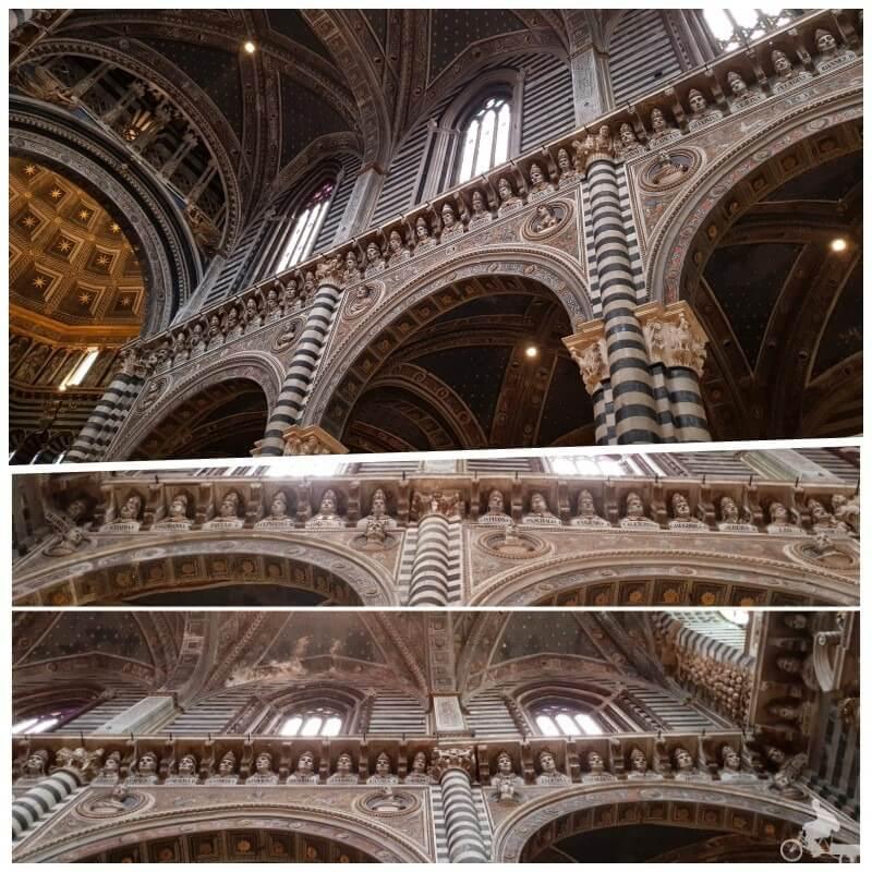 papas esculturas nave principal duomo de siena