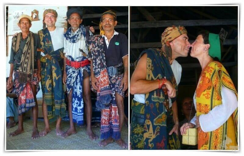 boda ceremonia marapu en isla de Sambu