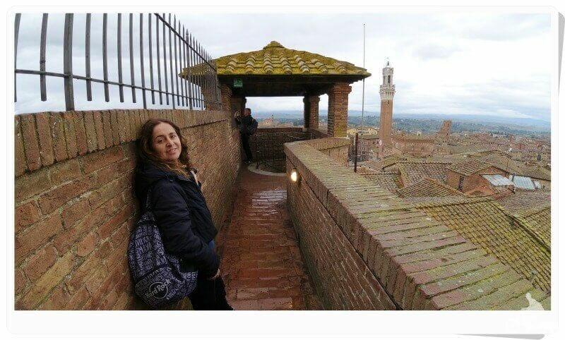 terraza del facciatone de la catedral de Siena
