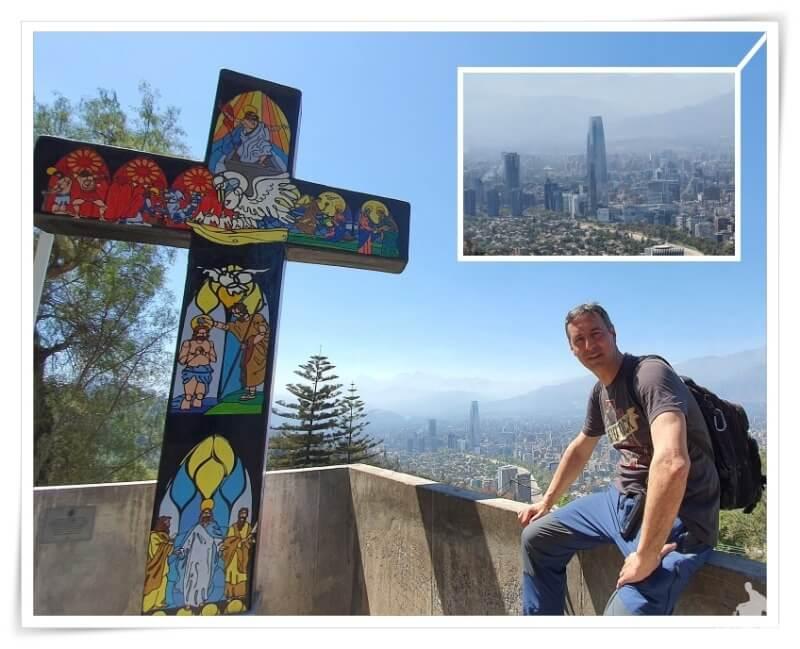 Costanera center desde el cerro de San cristóbal