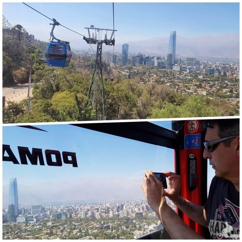 vistas desde el teleférico de Santiago de Chile