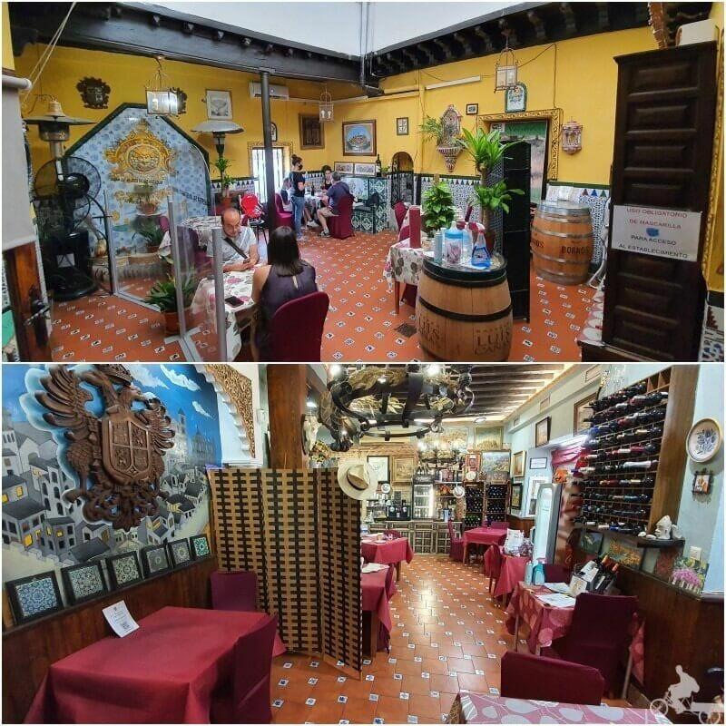 patios y comedores del restaurante lo nuestro en Toledo