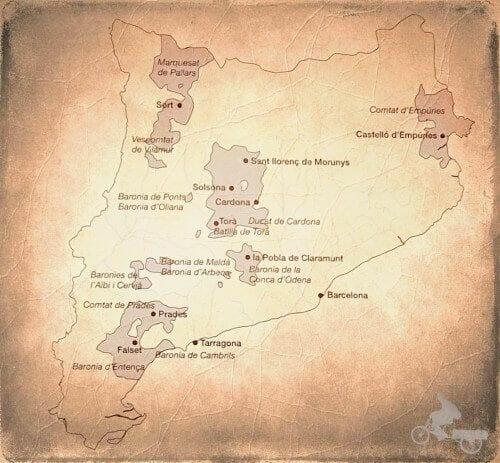 mapa de las propiedades de los Cardona