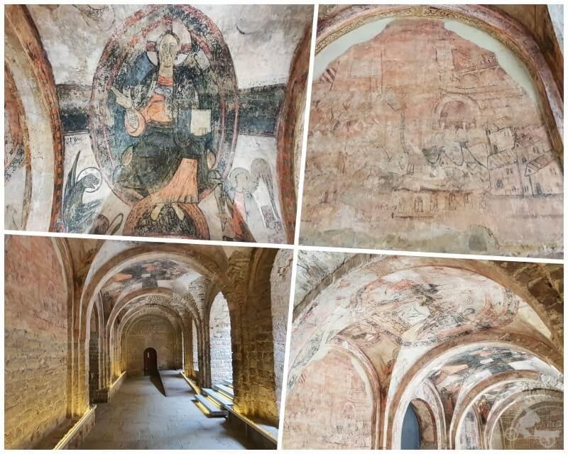 pinturas en el nartex de san Vicente de Cardona