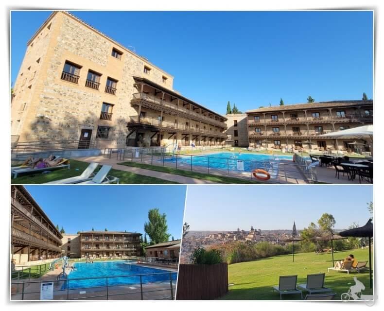 piscina del parador - donde alojarse en Toledo