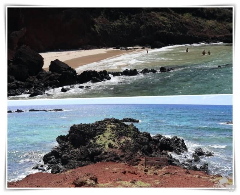 playa Ovahe de isla de Pascua