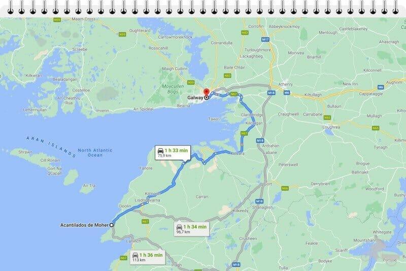 de Galway a los acantilados de moher en coche