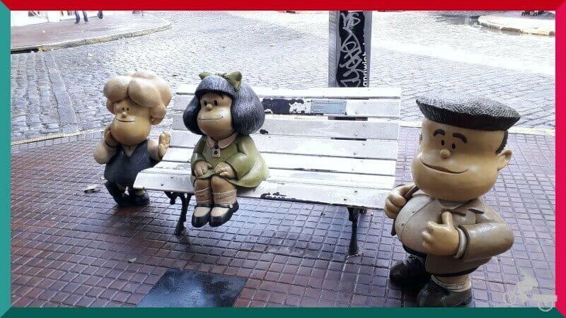 escultura Mafalda en el barrio de San Telmo