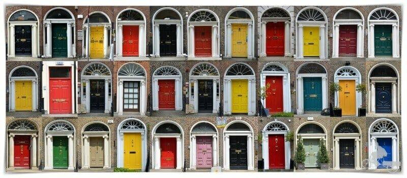 barrio georgiano puertas colores dublin