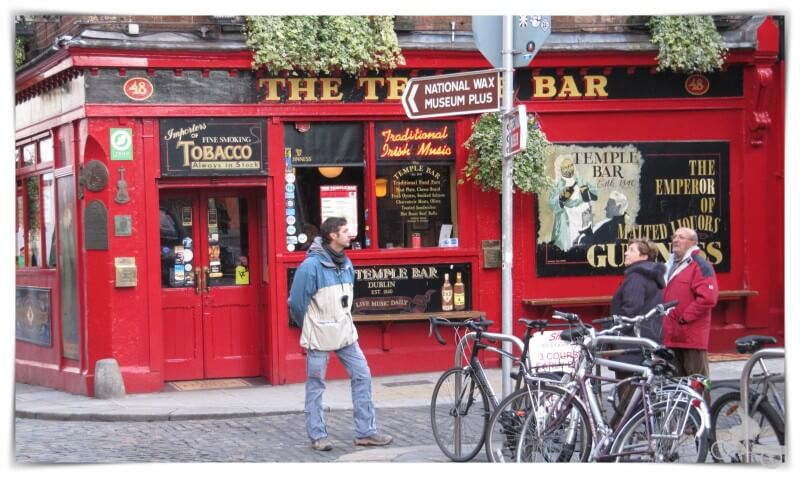 Pub Temple bar - mejores free tours en Dublín