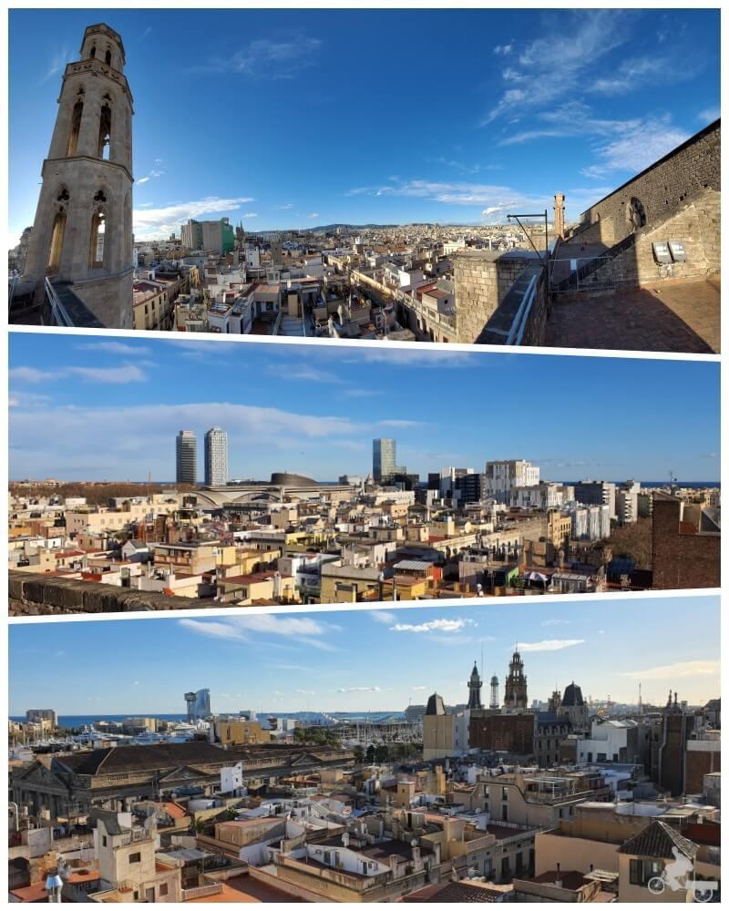 vistas desde las terrazas de la Basílica de Santa María del Mar